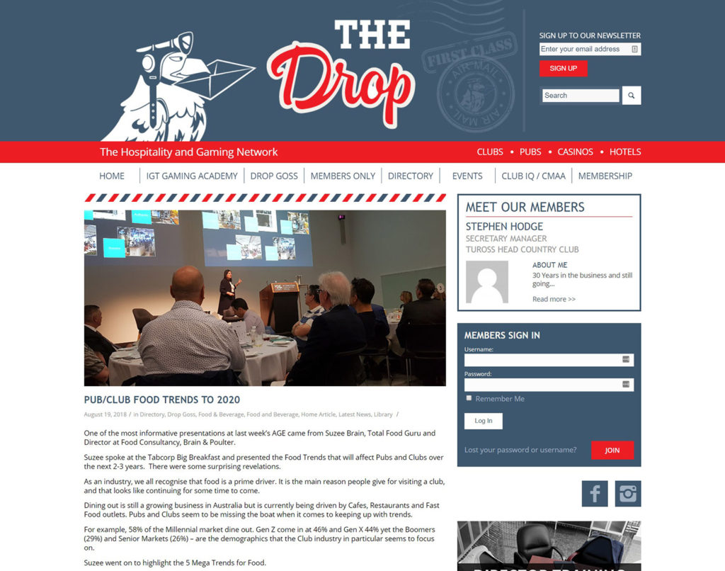 Brain and Poulter | THE DROP - PUB/CLUB FOOD TRENDS TO 2020