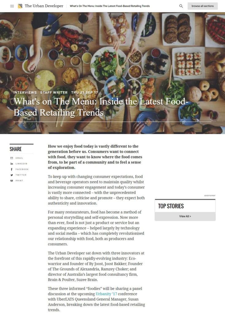 Latest Food Trends Sydney
